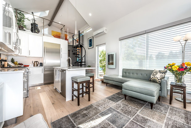 Contemporary Living Room by Tomecek Studio Architecture & Houzz Tour: Tiny House in Boulder Suits an Adventurous Couple