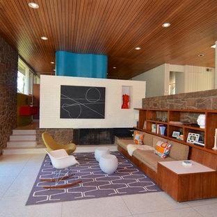 Inspiration för mellanstora retro vardagsrum