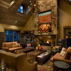 Rustic Living Room by IMI Design, LLC