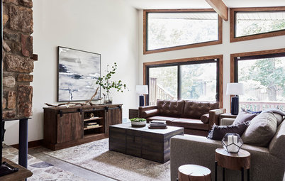 Houzz Tour: Rustic-Modern Style in the Blue Ridge Mountains