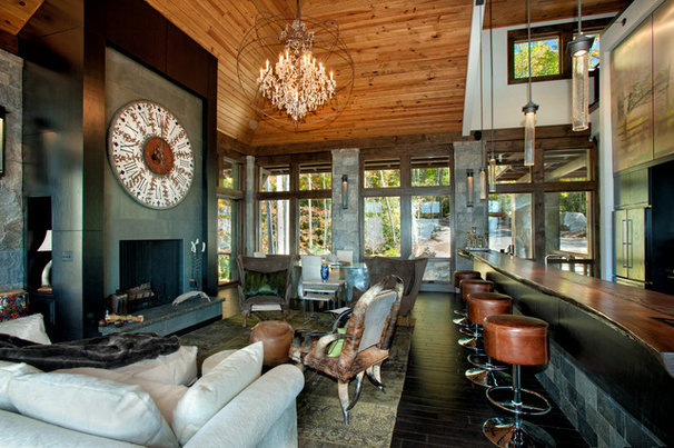 Rustic Living Room by Dianne Davant and Associates
