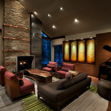 Contemporary Living Room by IMI Design, LLC