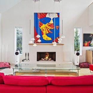 Esempio di un grande soggiorno minimalista