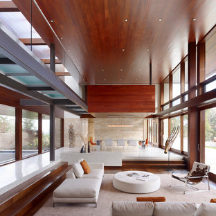 Photo of a modern open plan living room in San Francisco.