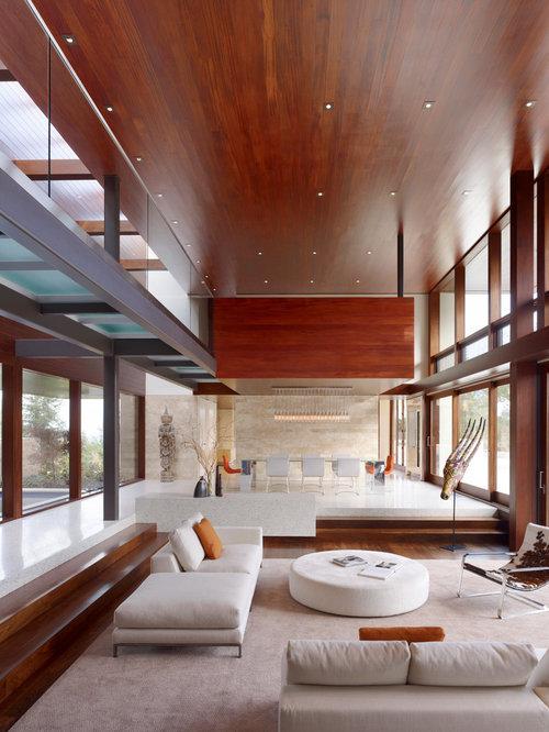 Minimalist Open Concept Living Room Photo In San Francisco