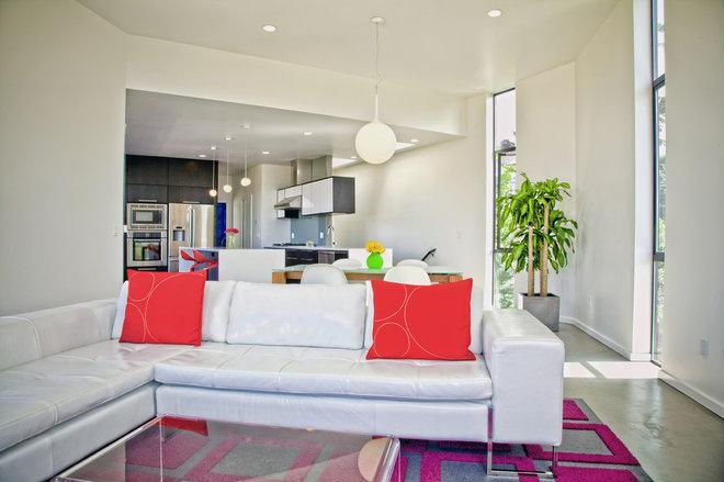 Modern Living Room by Todd Brickman designs