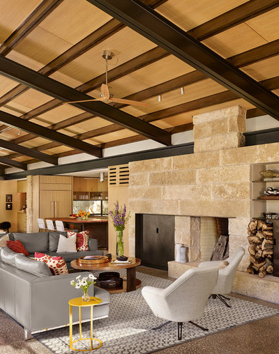 Contemporary Living Room by Poet Interiors