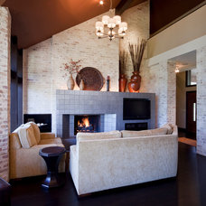 Contemporary Living Room by Rebecca Elliott Interior Design, LLC