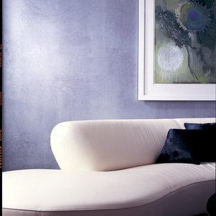 Esempio di un soggiorno minimalista di medie dimensioni