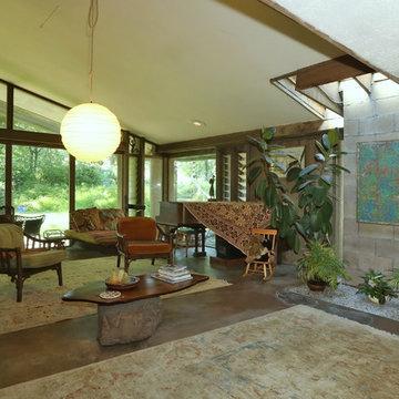 Modern, Rustic Frank LLoyd Wright inspired
