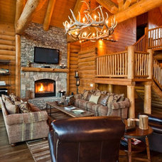 Rustic Living Room by Trimble Kelly Studios