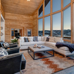 Modern Rustic Log Home Furniture Project on a Dime!