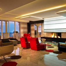 Modern Living Room by Urban Concepts Modern Fireplace Design