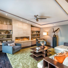 Contemporary Living Room by Monticello Homes & Development