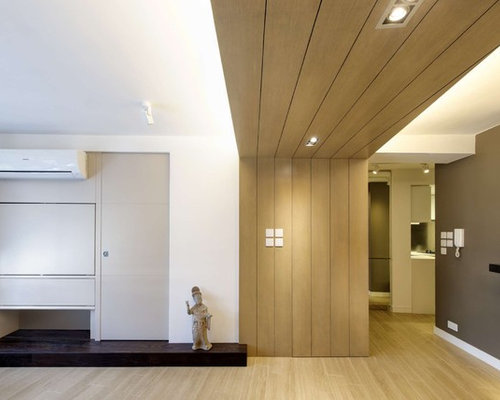 Modern small apartments living room design ideas remodels for Houzz small apartments