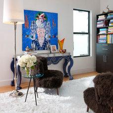 Contemporary Living Room by Wesley-Wayne Interiors, LLC