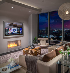 modern living room by MN Design by Mauricio Nava