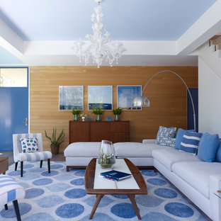 Blue And White Living Room | Houzz