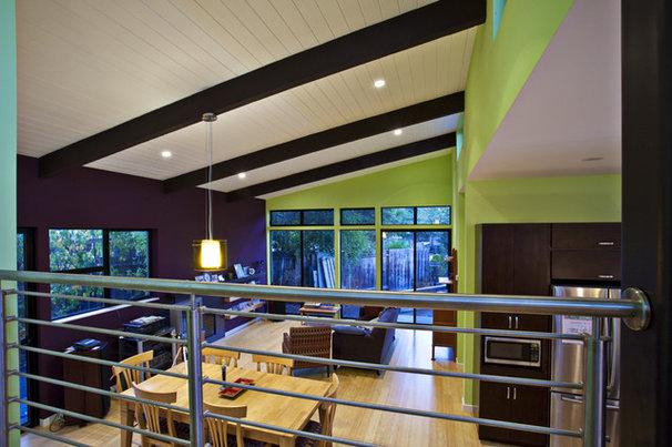 Modern Living Room by Noel Cross+Architects