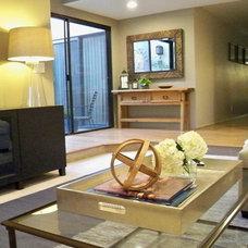 Contemporary Living Room by Yoko Oda Interior Design