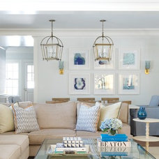 Beach Style Living Room by S. B. Long Interiors