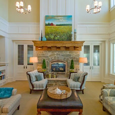Traditional Living Room by Hyrum McKay Bates Design, Inc.