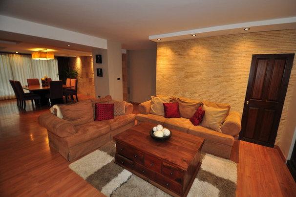 Asian Living Room by Ocean Gecko Designs & Marine Srvcs