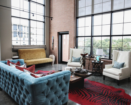 Modern urban loft home design ideas pictures remodel and for New york style living room ideas