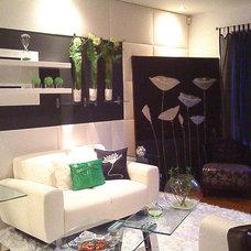 Contemporary Living Room by Yuyu & Gigi Design