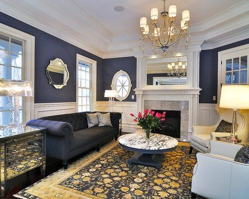 salon victorien avec un manteau de chemin e en bois. Black Bedroom Furniture Sets. Home Design Ideas