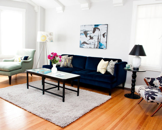 SaveEmail  Mint Home DecorNavy Sofa   Houzz. Navy Sofa Living Room. Home Design Ideas
