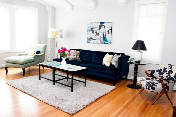 Eclectic Living Room by Mint Home Decor