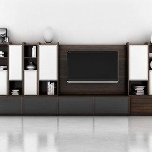 Living room - modern living room idea in New York