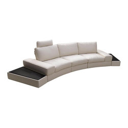 Modern White Sectional Sofa in Top Grain Italian Leather - Features:
