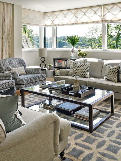 Contemporary Living Room by Susan Venn Design
