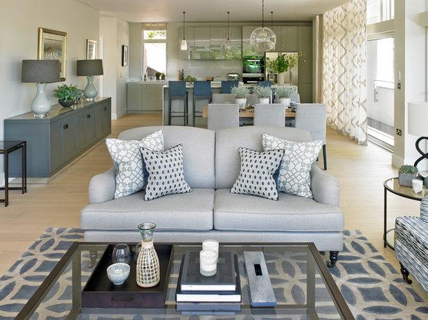 Stunning Transitional Living Room by Susan Venn Design
