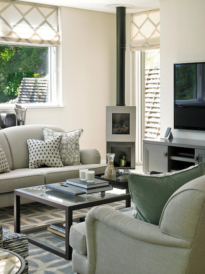 Transitional Living Room by Susan Venn Design
