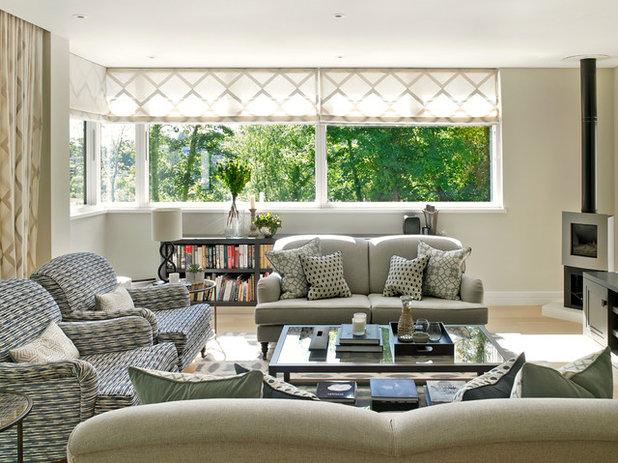 Marvelous Transitional Living Room by Susan Venn Design