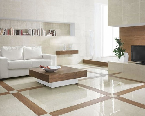 Affordable Ceramic Tile In A Traditional Living Room Living Room Design Ideas Renovations Photos With Ceramic Floors