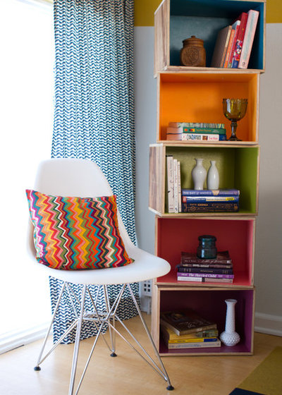 Eclectic Living Room by Erika Bierman Photography