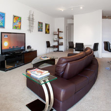 Contemporary Living Room by Kailey J. Flynn Photography