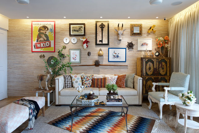 Eclectic Living Room by P S Design