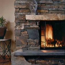 Traditional Living Room by Pelletier + Schaar
