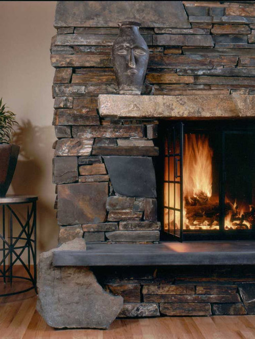 Dry Stack Fireplace Home Design Ideas Pictures Remodel