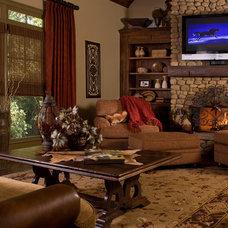 Traditional Living Room by Terri Ervin Decorating Den Interiors