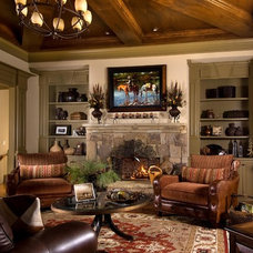Traditional Living Room by Terri Ervin Decorating Den Interiors