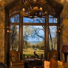 Traditional Living Room by Valley Glass & Windows