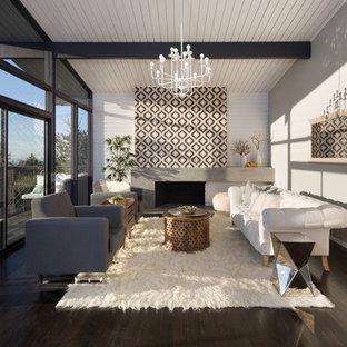 75 Beautiful Scandinavian Dark Wood Floor Living Room Pictures Ideas February 2021 Houzz
