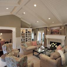 Beach Style Living Room by Santa Barbara Design & Build