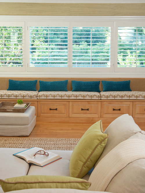 Bench Under Windows | Houzz